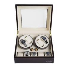 Toko Billstone Morgentau Plus 2 Watch Winder For 9 Watches Mahogany Finish Cream Suede Termurah Di Dki Jakarta