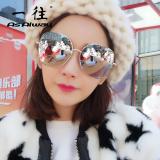 Promo As Alway Kacamata Hitam Wanita Lapisan Lensa Berwarna Biru Hijau Bingkai Super Besar Tiongkok