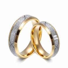(Bisa Bayar Di Tempat) cincin couple / kawin / Tunangan titanium original cc034