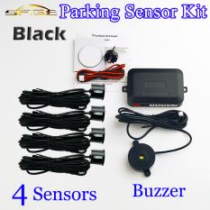 Hitam 4 Sensor Bel 22mm Kit Sensor Parkir Mundur Mobil Radar Kampanye Versus Peringatan Suara Pemeriksaan Sistem 12 V