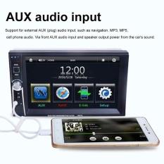 Hitam 7 Inch HD Layar Sentuh 2-DIN Mobil Di Dash Stereo FM Radio dengan Kamera Belakang TV Layar Sentuh Tahan Lama Portable-Intl