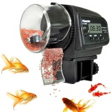 Katalog Black Auto Automatic Fish Food Feeder Pond Aquarium Tank Feeding Lcd Screen Intl Terbaru