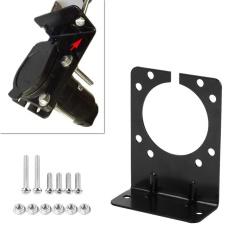Toko Black Metal Mounting Bracket Holder For 7 Pin Caravan Towing Trailer Connector Plug Socket Intl Tiongkok