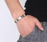 Beli Hitam Gelang Karet Gelang For Pria Stainless Steel Perhiasan Gelang Silikon Online