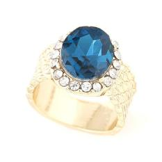 Blink Cincin Model Batu Permata Bling - Biru