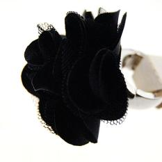 Blink Colored Flower Ring - Black Big