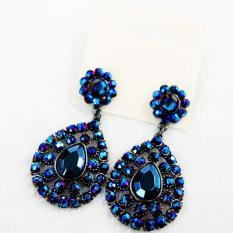 Blink F21 Luxury Full Diamonds Earrings - Blue