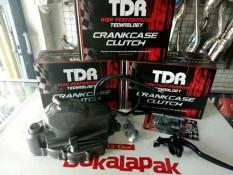 Blok - Bak Kopling TDR Racing Thailand Motor Jupiter Z Vega Lama Satu Set Block Mesin Lengkap Handle Stut Bearing Kabel Dll