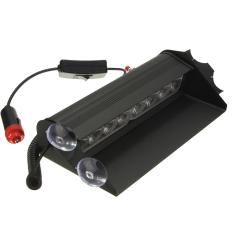 Biru 8 LED Sorot Cahaya Lampu Peringatan Darurat untuk Review Mobil Truk 12 V HB-803B