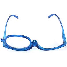 Biru Make Up Pembesar Reading Glasses With Membalikkan Lensa Power NEW + 1.0-Internasional