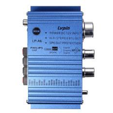 Biru Mini 2Ch Stereo Hi Fi Penguat Penggerak Dvd Mp3 Speaker Untuk Review Mobil Motor Oem Diskon 40
