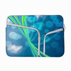 Blue Nature Abstrak Bokeh Latar Belakang 13 Sampai 13.6 Inch Laptop Sleeve Case dengan Zipper & Built-In 2 Kantong untuk Charger & Mouse-Intl
