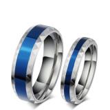 Harga Biru Berlapis 6Mm Titanium Stainless Steel Pasangan Pernikahan Band Janji Cincin Pertunangan 1 Pair Intl Yang Murah Dan Bagus