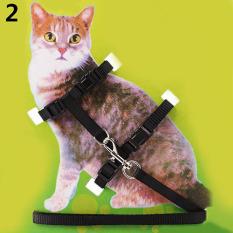 Bluelans® Nilon Yang Dapat Hewan Peliharaan Kucing Tali Tuntun Anjing Kerah Baju Besi (hitam) - International By Bluelans.