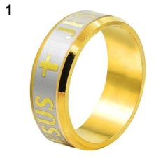 Titanium Steel Dropshipping Jesus Cross Letter Bible Wedding Band Source · Bluelans Pria Wanita 8mm Injil