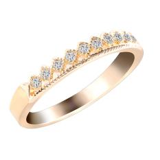 Dasi Kupu-kupu Bluelans For Pria Wanita Berlapis Emas Pasangan Mahkota Cincin Berlian Imitasi Perhiasan Cinta Golden