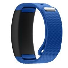 BLUESKY Silicone Replacement Memperbaiki Jam Tangan Band Strap Bracelet untuk Samsung Gear Fit 2 SM-R360. Biru-Intl