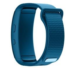 BLUESKY Silicone Replacement Memperbaiki Jam Tangan Band Strap Bracelet untuk Samsung Gear Fit 2 SM-R360. Cyan-biru-Internasional
