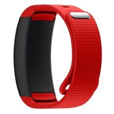 BLUESKY Silicone Replacement Memperbaiki Jam Tangan Band Strap Bracelet untuk Samsung Gear Fit 2 SM-R360. Merah-Intl