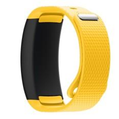 BLUESKY Silicone Replacement Memperbaiki Jam Tangan Band Strap Bracelet untuk Samsung Gear Fit 2 SM-R360. Kuning-Intl
