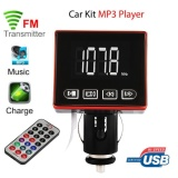 Toko Bluetooth Mp3 Player Fm Transmitter Modulator Car Kit Usb Sd Tf Mmc Lcd Remote Intl Di Tiongkok