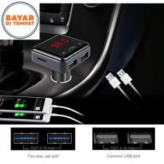 Bluetooth Nirkabel V2.0 Kit Pemancar FM Stereo Mobil MP3 USB Pemutar Cakram