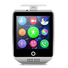 Bluetooth Smart Watch Q18 dengan Kamera Facebook WhatsApp Twitter Sync SMS Smartwatch Mendukung SIM TF Card untuk IOS Android- INTL