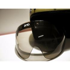 Toko Bnb Kaca Helm Retro Shield Helmet Polycarbonate Hitam Putih Clear Smoke Termurah