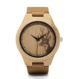 Jual Beli Bobo Bird Wn20 Pecinta Elk Kepala Rusa Bamboo Wooden Watch Jam Tangan Dengan Warna Kulit Asli Tali Untuk Pria Wanita F29 Intl Di Tiongkok