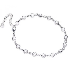 Body Candy Handcrafted Clear Accent Adjustable Anklet Created with Swarovski Crystals - intl