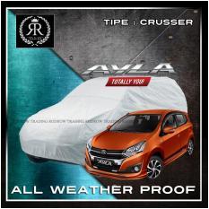 Body Cover / Sarung Mobil / Cover Mobil Daihatsu Ayla polos Silver