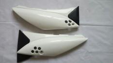 Body cover sayap jok belakang klx150 putih