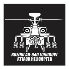 Boeing AH-64D Longbow Cutting Sticker