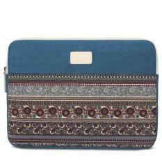 Bohemian STYLE Tas Kasus Lengan Laptop 14 Inch Canvas Fashion Tas Pelindung Wanita Pria Remaja untuk Macbook Laptop Notebook Tablet -Intl