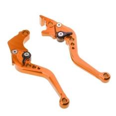BolehDeals 2 Pieces Adjustable Hand Brake & Clutch Levers untuk Honda Grom MSX125 Orange-Intl