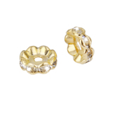 Toko Bolehdeals 50Pcs Gold Plated Czech Crystal Spacer Rondelle Beads Findings 10Mm Bolehdeals Di Tiongkok