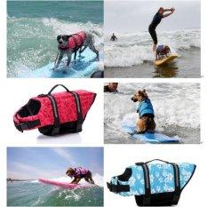 BolehDeals Dog Float Swim Boat Safety Coat Dog Life Belt Vest Jacket XS Grey and Black - intl