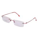 Harga Bolehdeals Fashion Logam Tanpa Bingkai Kacamata Merah Bingkai Ringan Dan Spesifikasinya