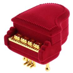 Harga Bolehdeals Fashion Merah Piano Bentuk Cincin Anting Anting Kalung Liontin Kotak Perhiasan Kotak Hadiah Asli Bolehdeals