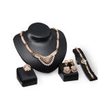 Jual Beli Online Bolehdeals Berlapis Emas Kalung Anting Gelang Cincin Perhiasan Set Untuk Wanita Pernikahan