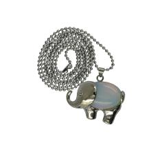 Penyembuhan Cakra Opalite Batu Permata Liontin Kalung Manik-manik Panjang Rantai Gajah Bolehdeals