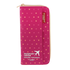 Spesifikasi Bolehdeals M Square Sampul Paspor Pemegang Case Dompet Organizer Kartu Boarding Titik Berwarna Merah Muda Merk Bolehdeals