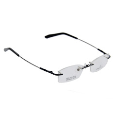 Kacamata Kacamata Tanpa Bingkai Logam Memori Bingkai Hitam
