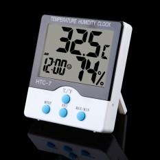 BolehDeals Mini Digital Pengukur Kelembaban Suhu Ruangan Jam Dinding Higrometer Termometer-Internasional
