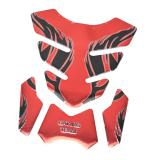 Spesifikasi Bolehdeals Sepeda Motor 3D Gel Bantalan Pelindung Tangki Bahan Bakar Gas Minyak Ikan Tulang Stiker Merah Bolehdeals