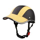 Harga Bolehdeals Motor Kulit Pu Topi Helm Motorcross Setengah Terbuka Kedok Muka Kuning Internasional Terbaru