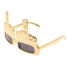 Bolehdeals Kebaruan Jari Tengah Sikap Kacamata Hitam Lipat The Burung Pesta Kacamata Gold-Internasional