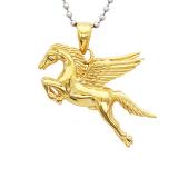 Harga Bolehdeals Kuda Terbang Pegasus Stainless Steel Untuk Pasangan Pria Kalung Emas Terbaru