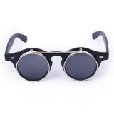 Jual Bolehdeals Vintage Steampunk Kacamata Bulat Bersandal Ke Matte Black Satu Set