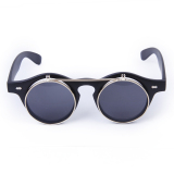 Bolehdeals Vintage Steampunk Kacamata Bulat Bersandal Ke Matte Black Diskon Indonesia